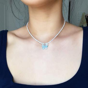 Blue Butterfly Necklace - Moromall