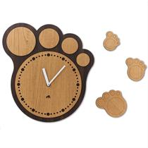 Bear Paw Handcrafted Non Ticking Silent Wall Clock - Moromall