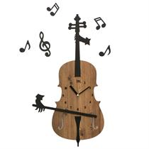 Invisible Cellist Playing the Cello - Handcrafted Non Ticking Silent Wall Clock Music Decor - Moromall
