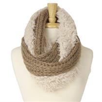 KNIT FURRY INFINITY SCARF - Moromall