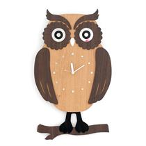 Owl Handcrafted Non Ticking Silent Wall Clock - Moromall