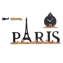 The trip to Paris Handcrafted Non Ticking Silent Wall Clock - Moromall