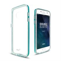 iTALK DOUBLE BUMPER CASE Crystal Clear Back TPU Dual Layer Protection for Galaxy S7 - Moromall