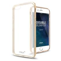 iTALK DOUBLE BUMPER CASE Crystal Clear Back TPU Dual Layer Protection for iPhone 6/6S plus - Moromall