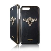 SQUARE Swarovski Crystals and Real Leather Case for IPhone 7 - Moromall