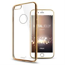 iTALK Metal Jelly Case for iPhone 6/6S Plus, Super Slim and Crystal Clear Metallic line case - Moromall