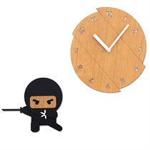 Cranky ninja Handcrafted Non Ticking Silent Wall - Moromall