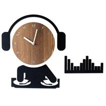 DJ Handcrafted Non Ticking Silent Wall Clock - Moromall