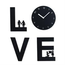 Love is Handcrafted Non Ticking Silent Wall Clock - Moromall