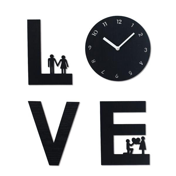 Love Is Handcrafted Non Ticking Silent Wall Clock