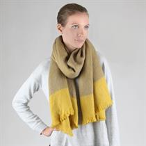 TWO TONE COLOR LONG SCARF - Moromall