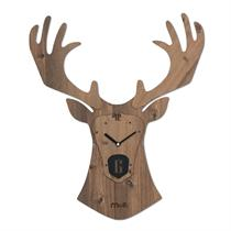 Reindeer Handcrafted Non Ticking Silent Wall Clock - Moromall