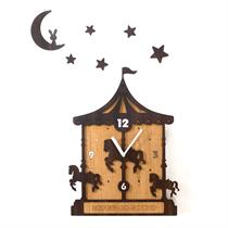 Merry-go-round Handcrafted Non Ticking Silent Wall Clock - Moromall